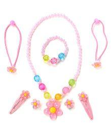 Adores Flower & Beads Kids Jewellery - Light Pink