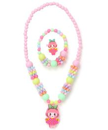 Adores Set Of 3 Beads & Doll Jewellery Set - Multicolor