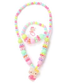 Adores Set Of 3 Kitty Jewellery Set - Multicolor