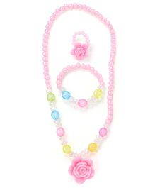 Adores Floral Shapes Hanging Jewellery Set - Pink