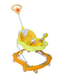 Cosmo Baby Walker With Push Handle Yellow Orange - CTI 65