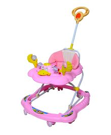 Cosmo Baby Walker With Push Handle Pink - CTI 61