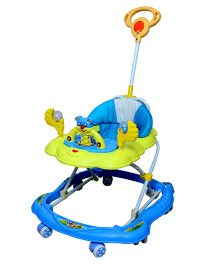 Cosmo Baby Walker With Push Handle Blue - CTI 68