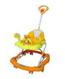 Cosmo Baby Walker With Push Handle Yellow Orange - CTI 70