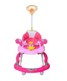 Cosmo Baby Walker With Push Handle Pink - CTI 63