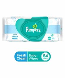 Pampers Fresh Clean Baby Wipes - 64 Pieces