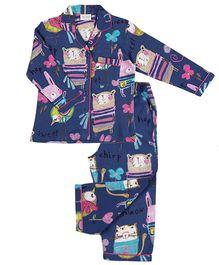 De-Nap Tweet Chirp Hop Squeak Pajama Set - Navy