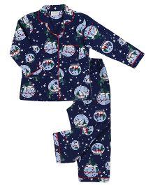 De-Nap Snowman Pajama Set - Navy Blue