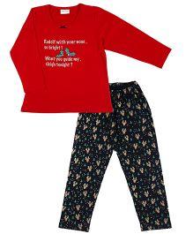 De-Nap Rudolf the Red Nose Reindeer Pajama Set - Red