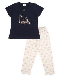 De-Nap Bicycle Pajama Set - Navy
