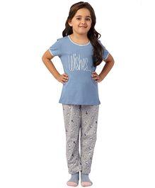 De-Nap Wishes Pajama Set - Blue