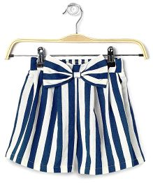 Cubmarks Striped Shorts With Bow - Blue & White