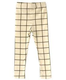 Cubmarks Plaid Leggings - White