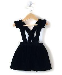 Cubmarks Corduroy Dungaree Dress - Black