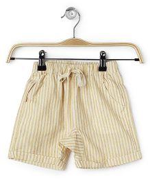 Cubmarks Striped Shorts - Cream