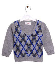 RVK Mock Waistcoat Style Sweater - Grey