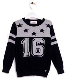 RVK Star Design 16 No Full Sleeves Pull Over - Black