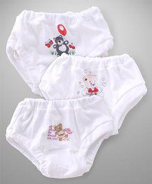 Cucumber Panties Pack of 3 - White