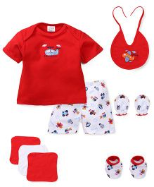 Mee Mee Baby Gift Set Red - 8 Pieces