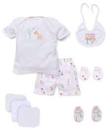 Mee Mee Baby Gift Set Cream - 8 Pieces