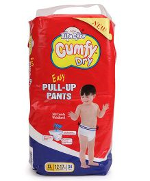 Cumfy Dry Pull Up Pants Extra Large - 34 Pieces