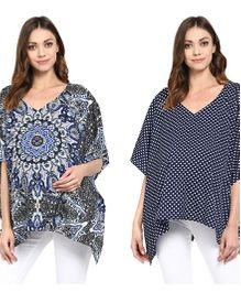 Wobbly Walk 2 In 1 Poncho Style Nursing Cover Set of 2 - Multi Color