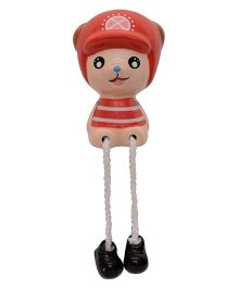 Buddyboo Baby With Hanging Legs Money Bank - Red
