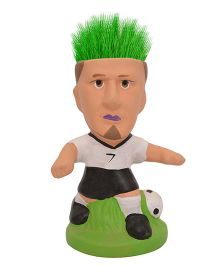 Buddyboo Footballer Grass On Head Plant Pot - White Black