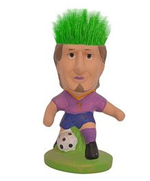 Buddyboo Footballer Grass On Head Plant Pot - Purple Blue