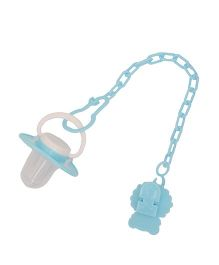 Buddyboo Baby Teether Pacifier With Clip Holder Penguin Shape - Blue