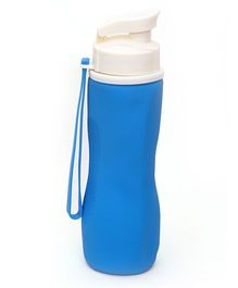 Buddyboo Foldable Sipper Bottle Blue White - 740 ml
