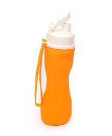 Buddyboo Foldable Sipper Bottle Orange White - 740 ml
