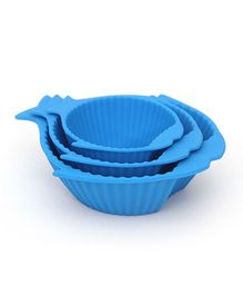 Buddyboo Baby Feeding Bowl Fish Design Blue - Set Of 3