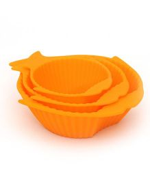 Buddyboo Baby Feeding Bowl Fish Design Orange - Set Of 3