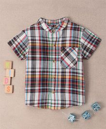 Bubblegum Checks Shirt With Smart Mandarin Collar - Multicolour