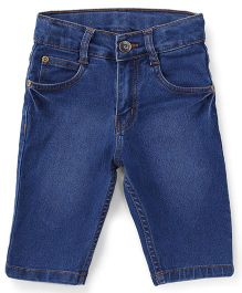 Babyhug Jamaican Denim Shorts - Medium Blue
