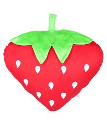 Ultra Soft Strawberry Fruit Cushion - Red Green