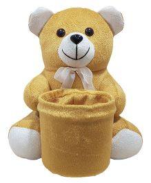 Ultra Soft Teddy Pen Stand Beige - 20 cm
