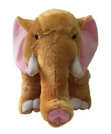 Ultra Animal Elephant Shaped Soft Toy Brown - 28 cm