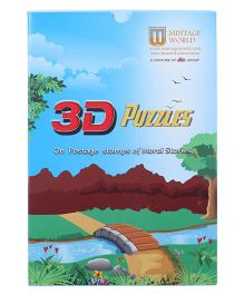 Ultra Mintage 3D Jigsaw Puzzles of Postage Stamps With Moral Stories