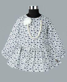 WhiteHenz ClothingChristmas Delight Owl Print Tunic - White & Black