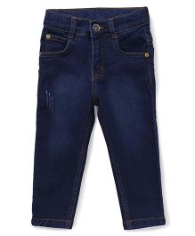 Babyhug Denim Jeans - Dark Blue