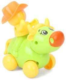 Smiles Creation Wind Up Ox Toy - Green Yellow
