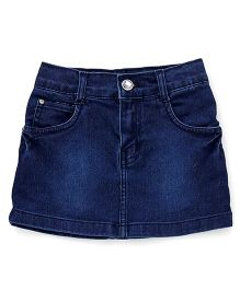 Babyhug Denim Skirt - Dark Blue