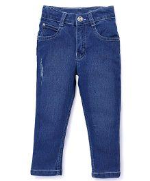 Babyhug Full Length Jeans - Medium Blue