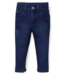 Babyhug Full Length Jeans - Dark Blue