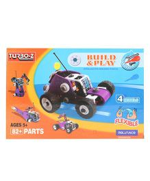 Turboz Build And Play Vehicle Multicolour - 82 Parts