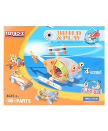 Turboz Build And Play Vehicle Set Multicolour - 108 Parts
