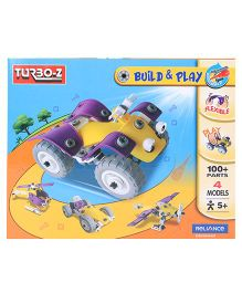 Turboz Build And Play Vehicle Set Multicolour - 100 Parts