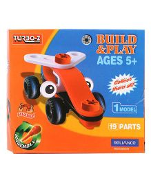 Turboz Build And Play Vehicle Multicolour - 19 Parts